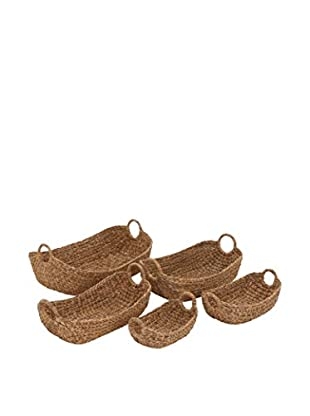 Set of 5 Seagrass Baskets