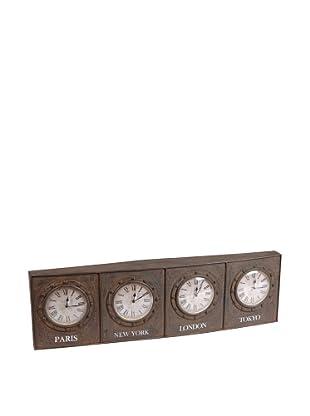 Amadeus Cuadro Grande 4 Relojes Metal 96 cm