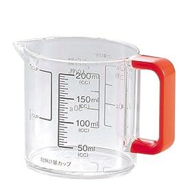 【クリックで詳細表示】パール金属 Colors 耐熱 計量カップ 200ml オレンジ C-1387: ホーム&キッチン