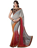 KVS FAB Shaded Color Beautifull Saree With Dual Blouse By Kvsfab 1311