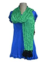 Sofias Exclusive Viscose Woven Medium Shawl,Size-70 cms x 200 cms,Color-Green