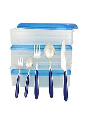 Harea Tuppers Multiclick + Cubertería Azul