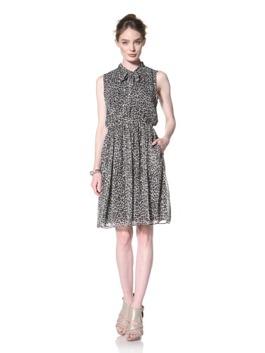 Taylor Dress Women's Animal Printed Chiffon Dress (Grey)