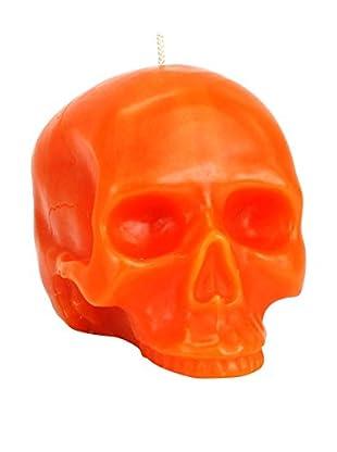 D.L. & Co. Medium Orange Skull Candle