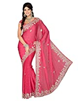 Exclusive Satin Chiffon Party wear De Marca 5009 Saree