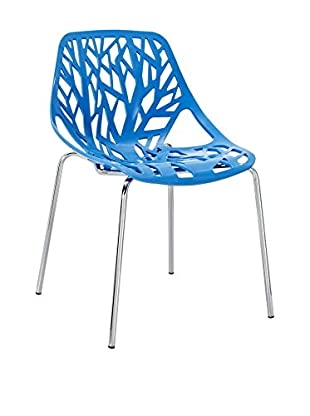 Modway Stencil Dining Side Chair, Blue