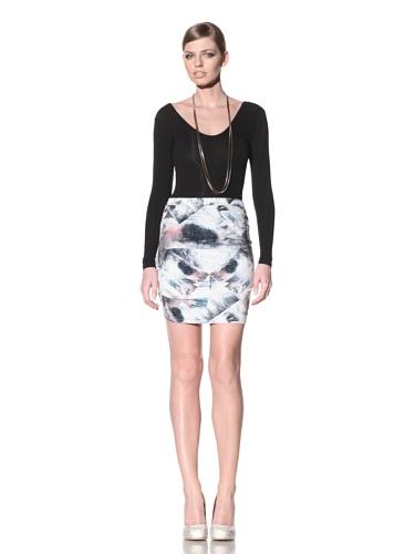 FACTORY by Erik Hart Women's Matte Jersey Mini Skirt (Foil Print)
