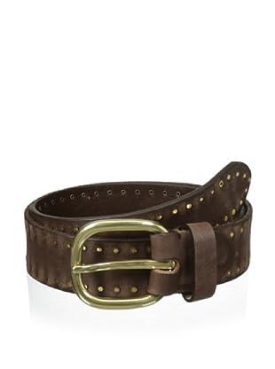 Bolliver Men's Suede Studded Belt (Brown)