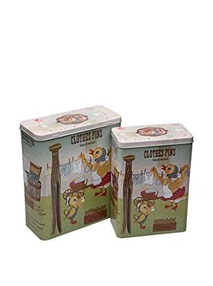 Zings Aufbewahrungsbox 2er Set Pincers grau