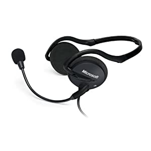 Microsoft LX-2000 LifeChat Headset (Black)
