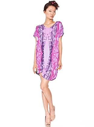 Custo Vestido Arata (lila / rosa)