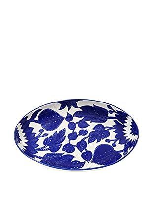 Le Souk Ceramique Jinane Poultry Platter, Blue/White