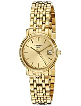 Tissot Desire Analog Gold Dial Women's Watch T52528121