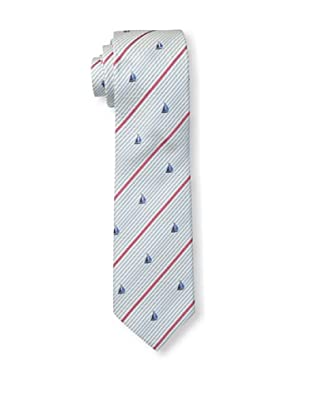 Gitman Blue Men's Striped Sailboat Tie, Blue/Red
