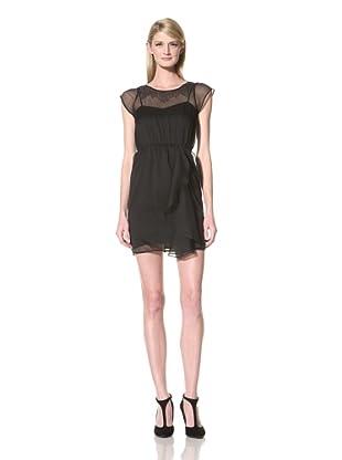 Marc New York Women's Cap Sleeve Dress with Beading (Black)