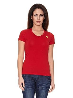 Ferrari Camiseta V-neck (Rojo)