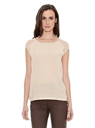 Cortefiel Camiseta Hombro Transpare (Maquillaje)
