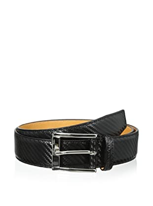 Leone Braconi Men's Hi Tech Embossed Belt (Nero)