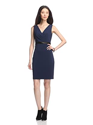 Elie Tahari Women's Virginia V-Neck Dress (Navy Sapphire)