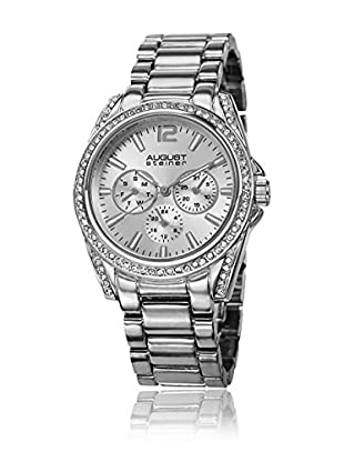 August Steiner Reloj de cuarzo Woman AS8075SS Plateado 39 mm