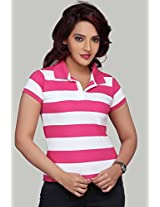 Clifton Women's Polo Stripes T-shirt - Wpsts04