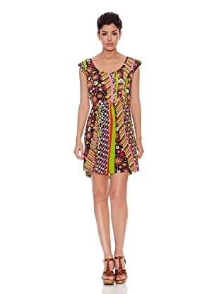Peace & Love Vestido Lama (Multicolor)