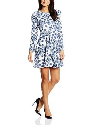 NAOKO Kleid blau/weiß XL