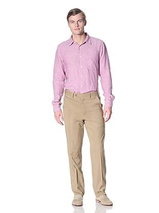 Corbin Men's Wool Stretch Flat Front Trouser (Tan)
