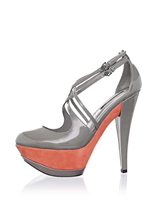 Adrienne Maloof for Charles Jourdan Women's Imogen Criss Cross Mary Jane (Grey)