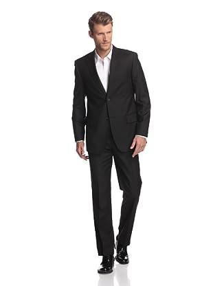 Martin Gordon Men's Peak Lapel Suit with Two Breast Pockets (Black)