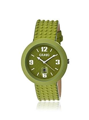 Crayo Women's CRACR1805 Jazz Green Leather Watch