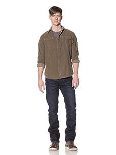 Projek Raw Men's Washed Corduroy Shirt (Camel)