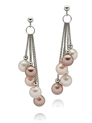 Perldor 60650194 - Pendientes de mujer de plata de ley con perla natural Rosa