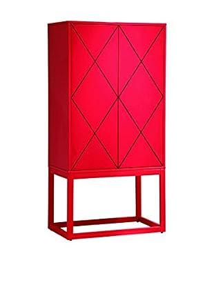 Bassett Mirror Company Zoe Bar, Lipstick Red