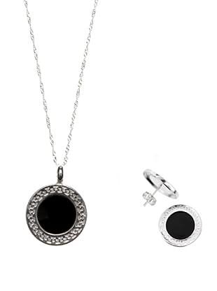 Silver Luxe Set catenina, pendente e orecchini argento 925