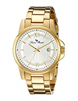 Lucien Piccard Men's 10048-YG-22S Breithorn Silver Textured Dial Gold Ion-Plated Stainless Steel Watch