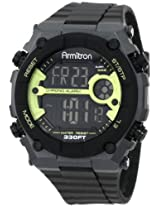 Armitron Sport Men's 40/8260LGN Chronograph Lime Green Accented Grey Watch