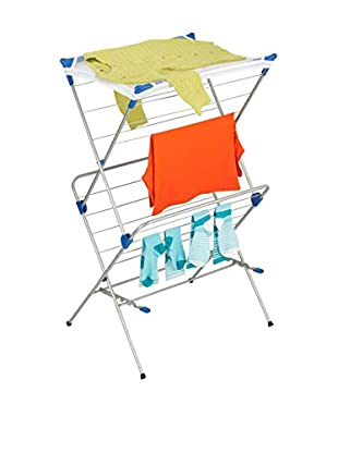 Honey-Can-Do 2-Tier Mesh-Top Drying Rack, Silver
