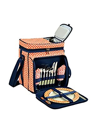 Picnic At Ascot Diamond Collection Cooler For 2, Orange/Navy
