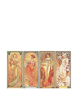 ARTOPWEB Panel Decorativo Mucha Les Saisons, 1900 - 25x44 cm