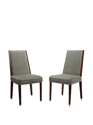 Armen Living Set of 2 Neo Side Chairs (Lagoon)