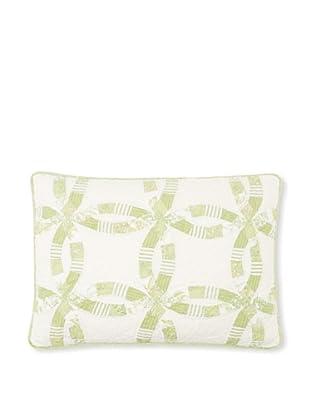 Wedding Ring Pillow Sham (Celery)