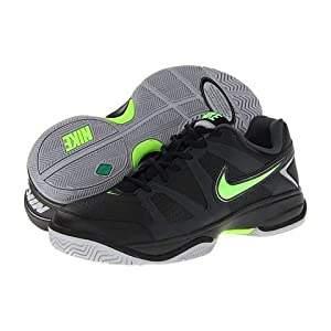 Nike Mens City Court VII Black/Anthracite/Electric Green Sneakers