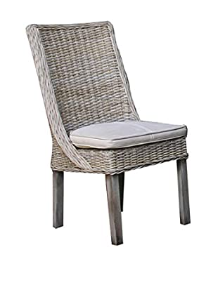 Panama Jack Exuma Side Chair With Cushion, Kubu Grey