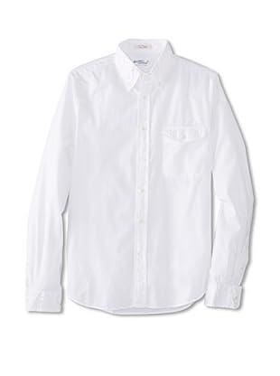 GANT Rugger Men's Dreamy Oxford Garment Dye Button Down Shirt (White)