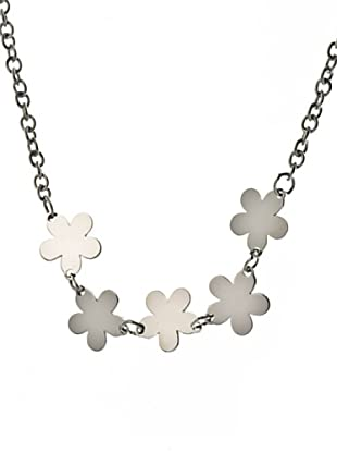 Nomination Collar Flowers Plata