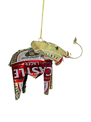 Mbare Tin Elephant Ornament (Multi)