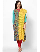 Lehariya Design Tie-Dye Cotton Dupatta