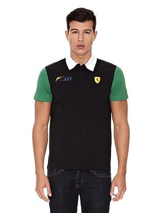 Ferrari Polo shirt Massa (Negro)
