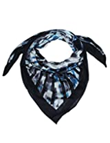 Uso Uno scarf in abstract print with border in soft material